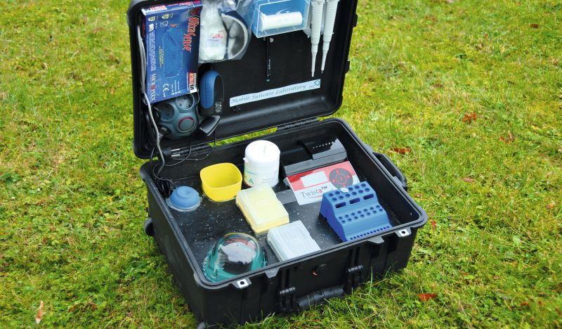 The Ebola mobile suitcase laboratory successfully tested in Guinea