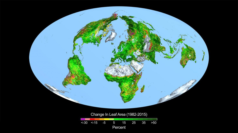 CO2 fertilization greening the Earth