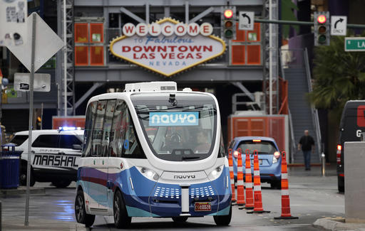 Driverless Electric Shuttle Being Tested In Downtown Vegas