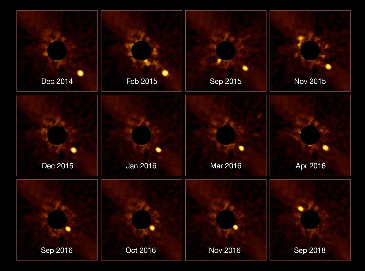 Výkonný teleskop VLT vyfotil exoplanetu ve vzdálenosti 63 světelných let