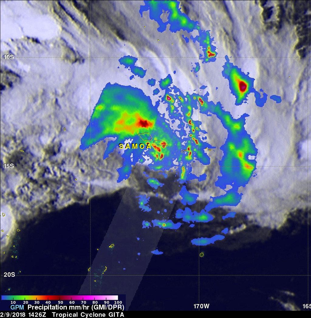 Tropical Cyclone Gita Packs Heavy Rain Warnings Now For Tonga And Fiji