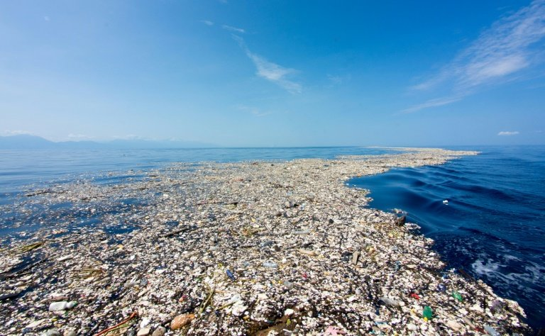 millions of tonnes of plastic enter the ocean every year forming giant rubbish islands in the pacific