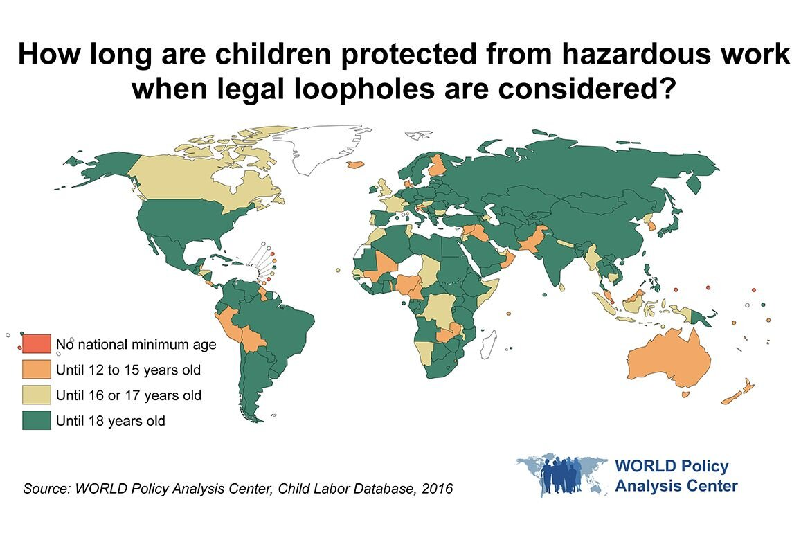 Child labor protections are lacking in many countries, study finds