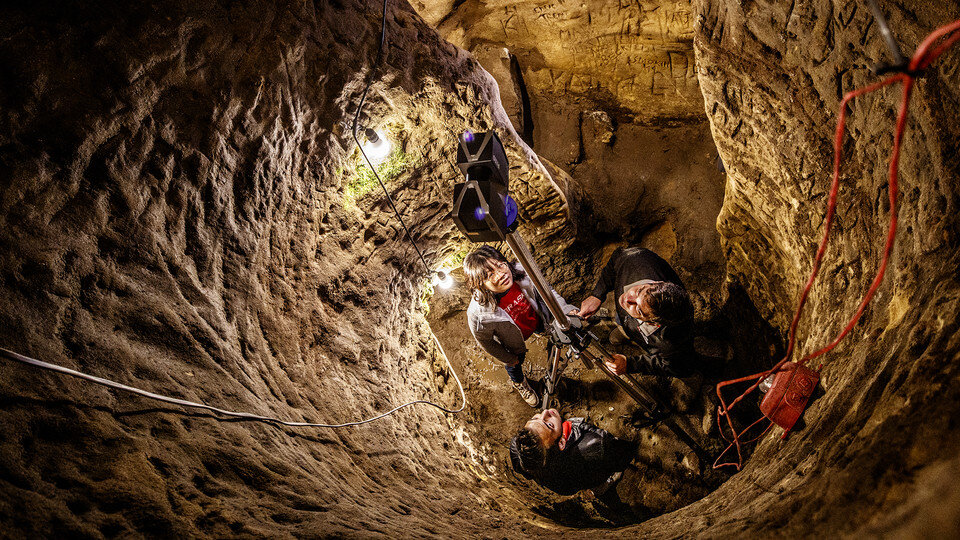 Laser scanning leads to 3-D rendering of Robber's Cave