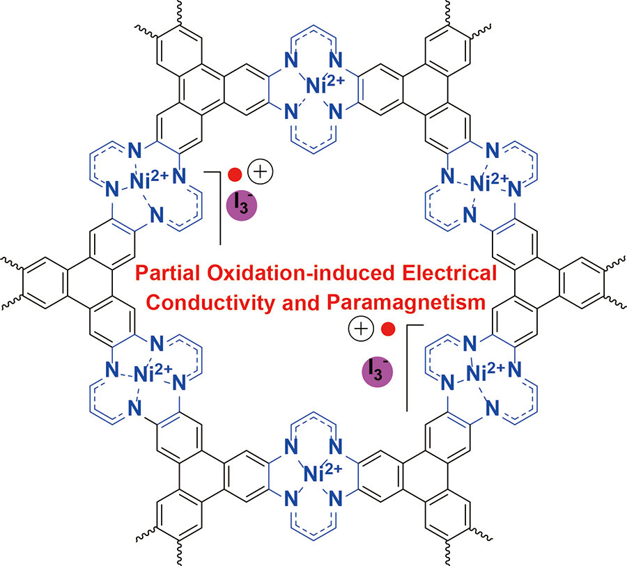 New 2 D Metal Organic Framework With Interesting Electrical Conductivity And Magnetic Properties