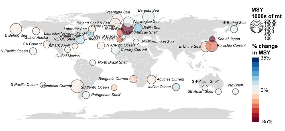 Ocean warming has fisheries on the move, helping some but hurting more
