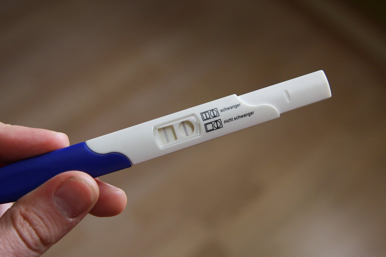 pregnancy test positive results images