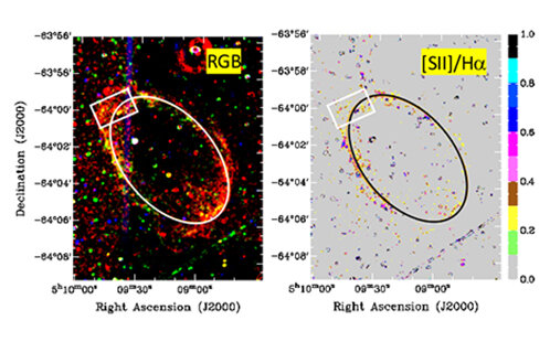 120,000-year-old supernova remnants detected in neighboring galaxy
