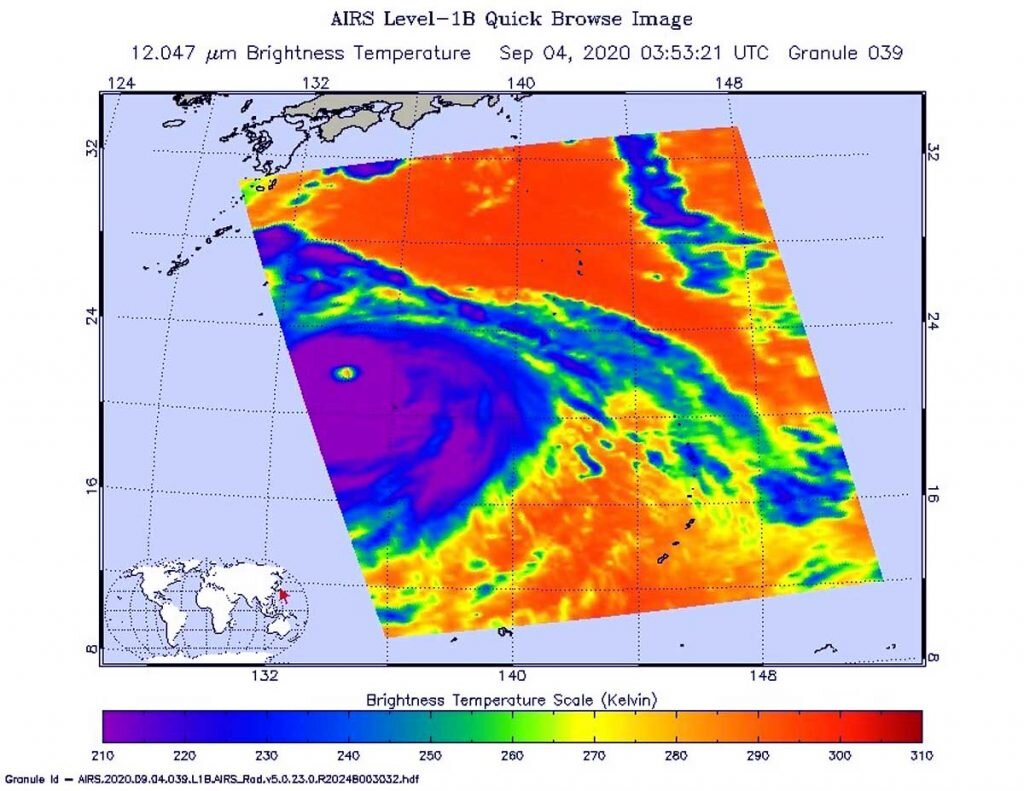 NASA satellites catch Typhoon Haishen before and after landfall
