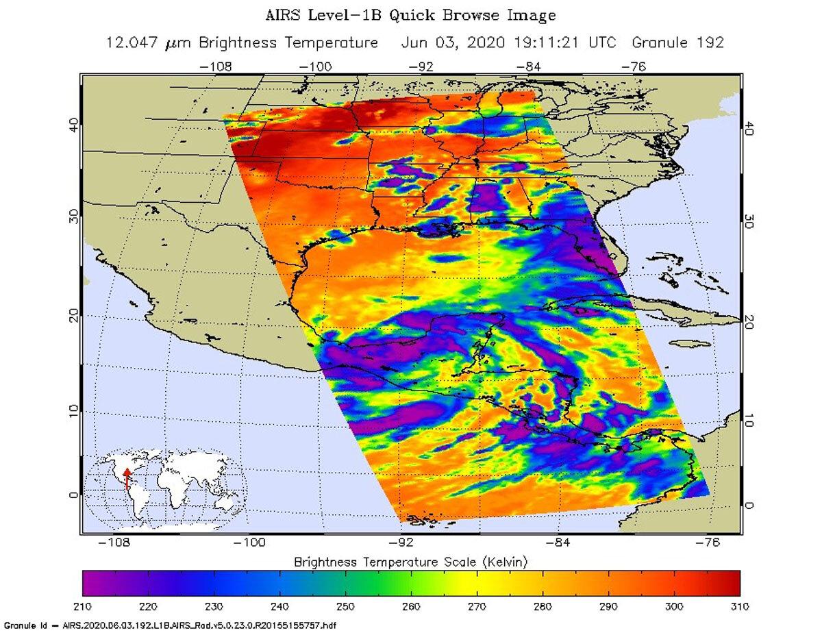 NASA infrared imagery indicates Cristobal's heavy rainmaking capabilities