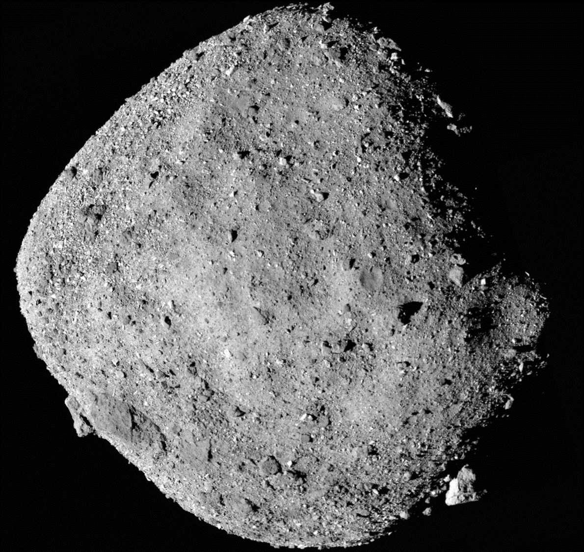 Study indicates sand-sized meteoroids are peppering asteroid Bennu