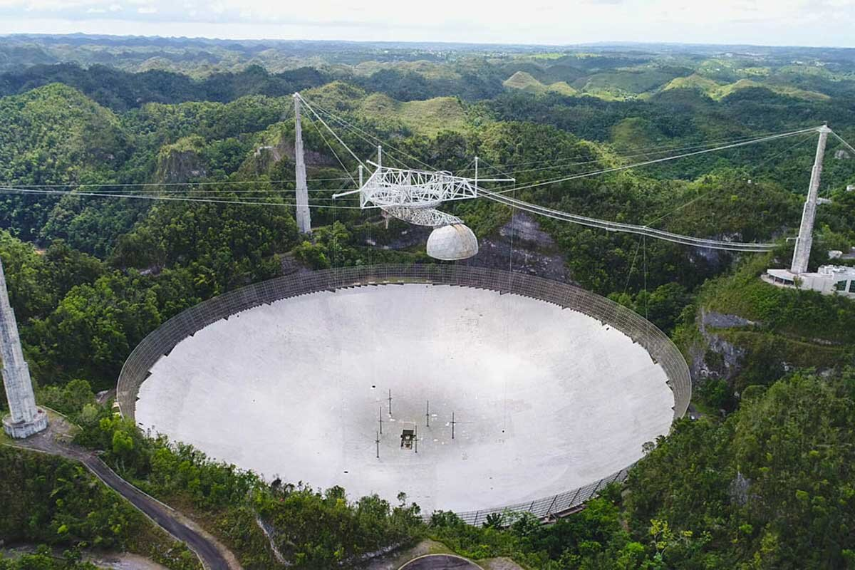 A second cable fails at NSF's Arecibo Observatory in Puerto Rico