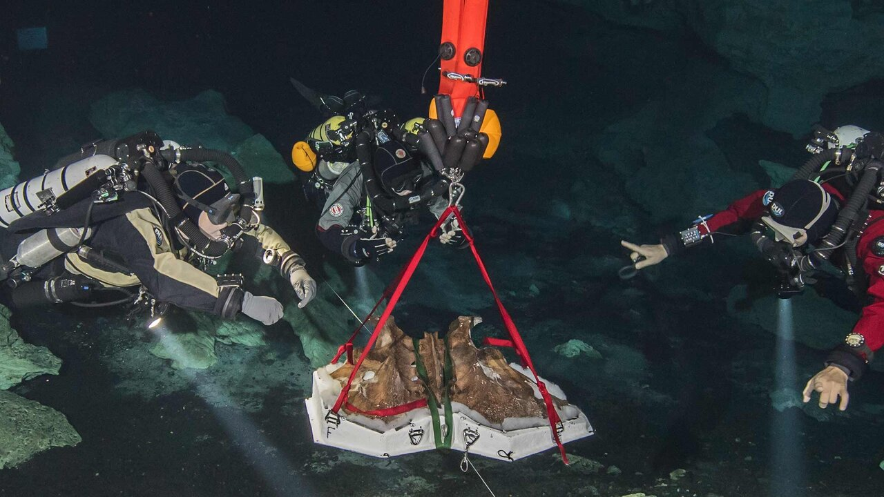 Cave divers search depths for the bones of the Ice Age