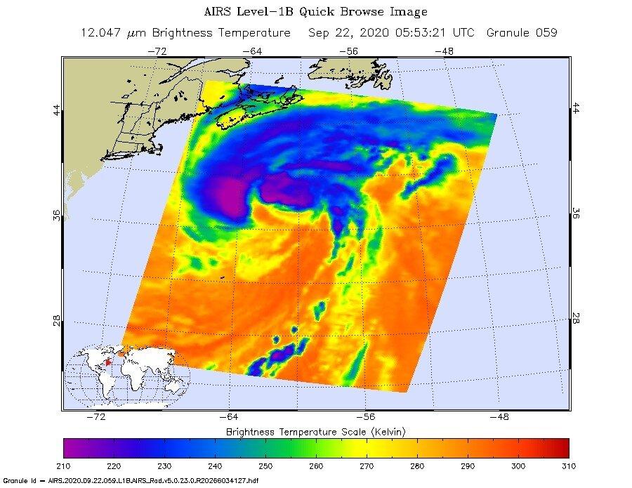 NASA sees post-tropical storm Teddy generating heavy rain...