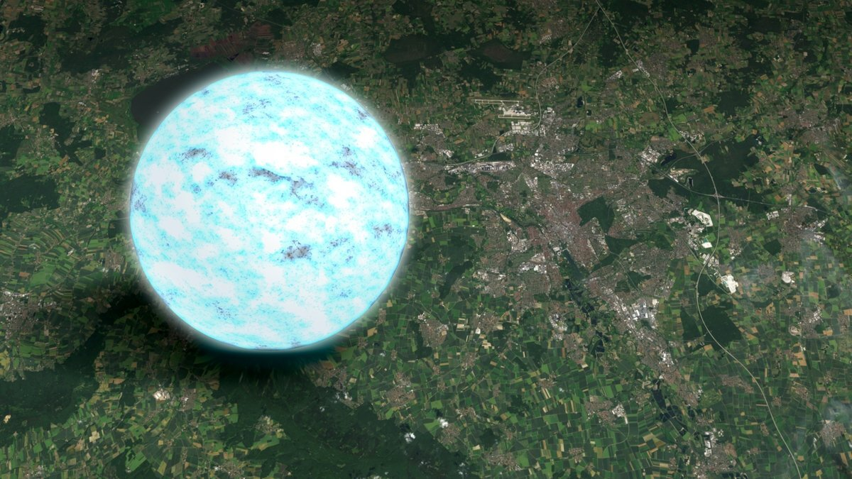 Neutron star with measured at 11 kilometers radius thumbnail