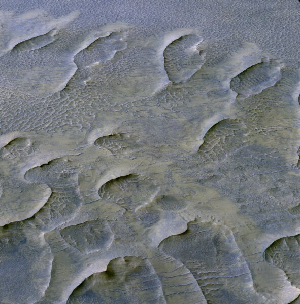 Preserved dune fields offer insights into Martian history
