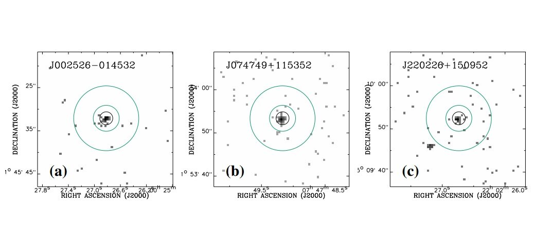 Three high-redshift quasars detected by Chandra