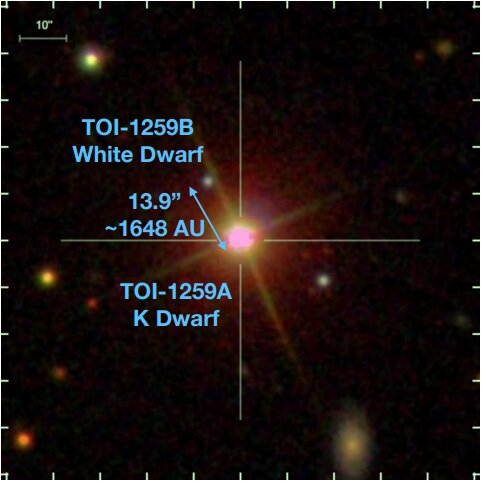 Astronomers find planetary system with gas giant exoplanet and white dwarf companion