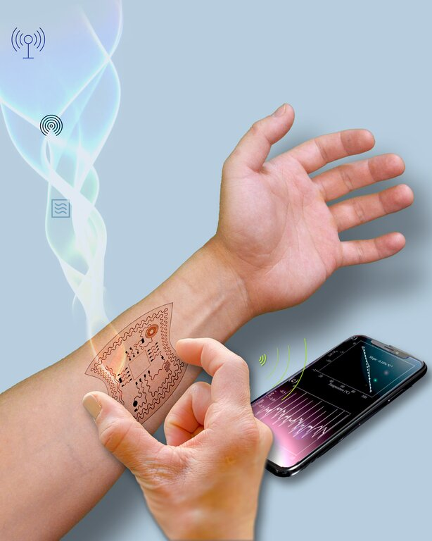 Researchers harvest energy from radio waves to power wearable devices