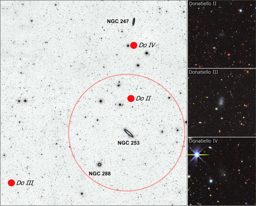 Astronomers discover three new faint dwarf galaxies