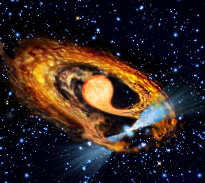 Astronomers inspect the formation of millisecond pulsar PSR J1946+3417