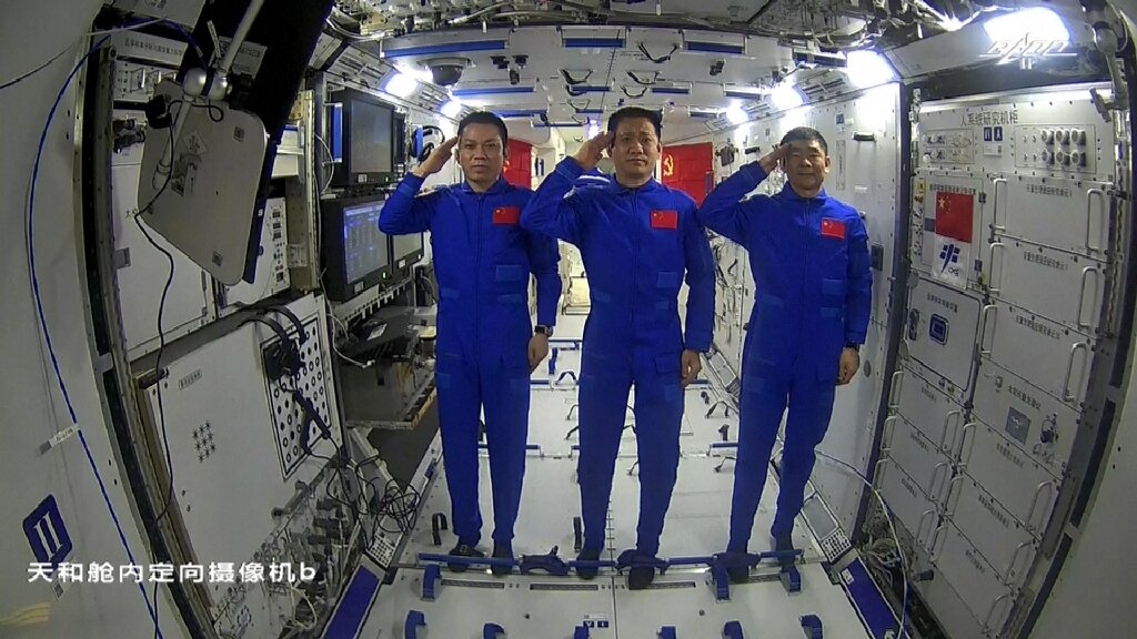 Astronauts complete first spacewalk at China's new Tiangong station