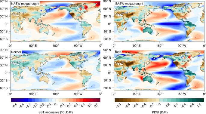 Climate model shows drought in North and South America at the same time during La Niña events
