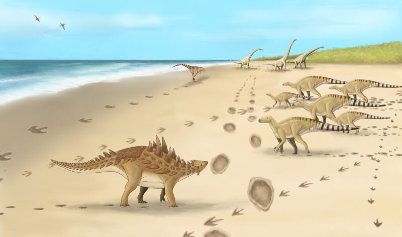 Footprints discovered from the last dinosaurs to walk on UK soil