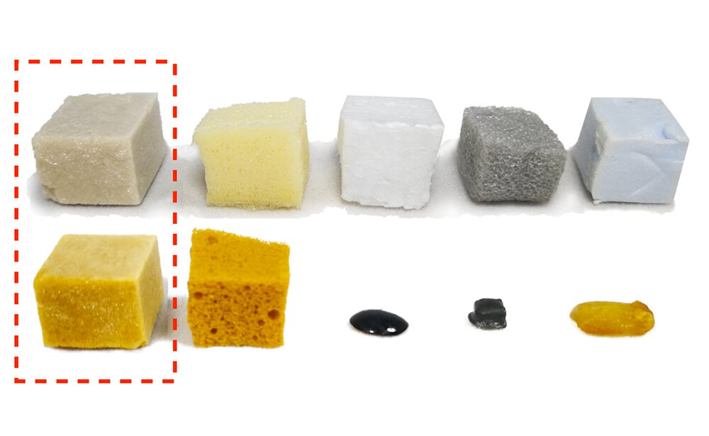 From milk protein, a plastic foam that gets better in a tough environment