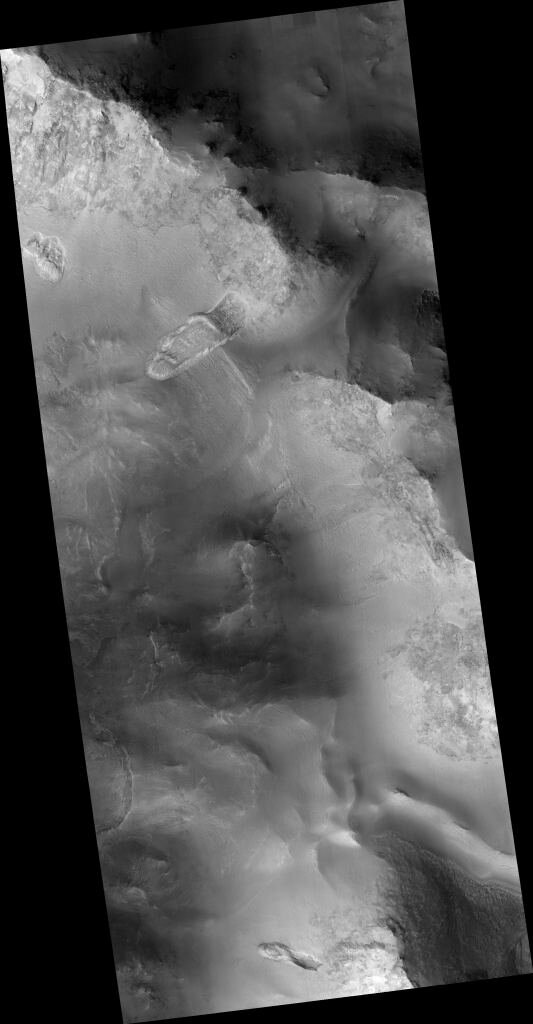 Mars is still an active world—here's a landslide in Nili Fossae