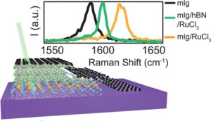New way to control electrical charge in 2-D materials: Put a flake on it