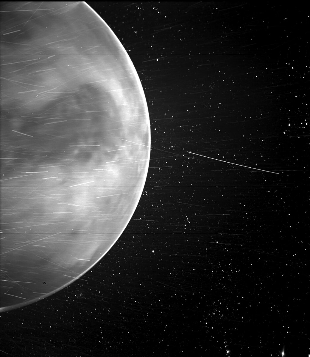 Parker discovers natural radio emission in Venus' atmosphere