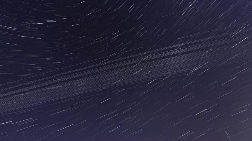Satellites contribute significant light pollution to night skies