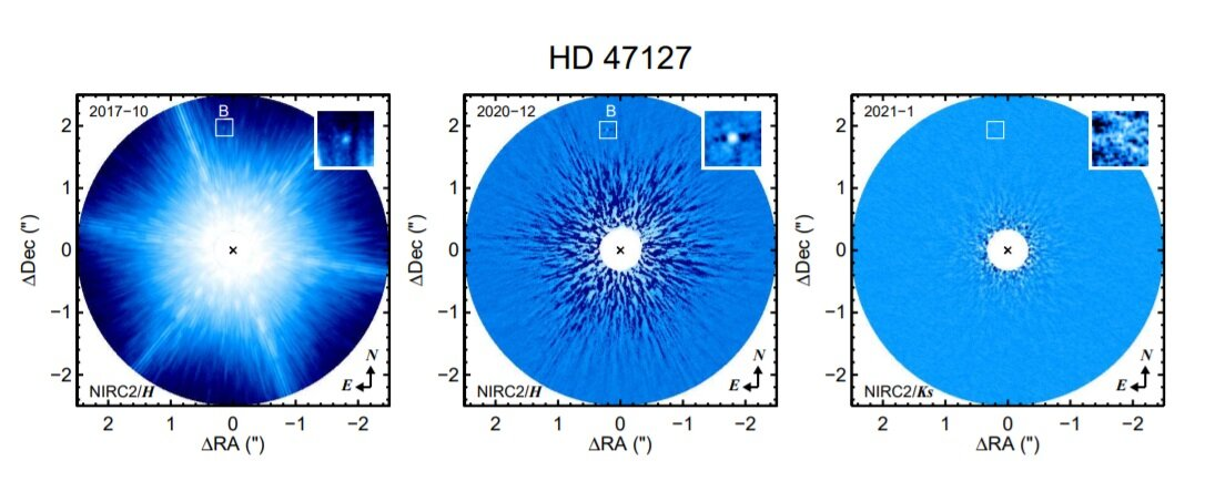 Astronomers detect substellar companion of HD 47127