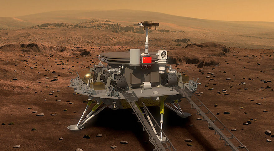 How Zhurong will attempt to touch down on the red planet