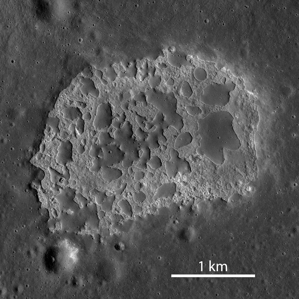 The most recent volcanic activity on the moon? Just 100 million years ago
