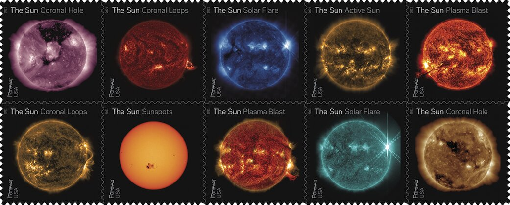 The U.S. Postal Service to issue NASA sun science forever stamps