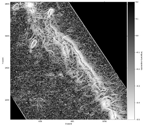 Turbulence in interstellar gas clouds reveals multi-fractal structures