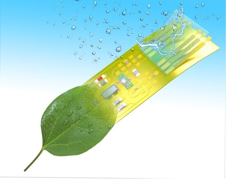 Researchers create self-sustaining, intelligent, electronic microsystems from green material