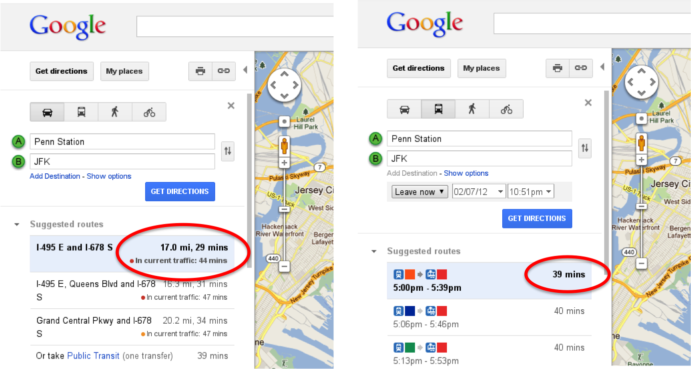 Google Tries New Approach With Real Time Traffic Estimates For