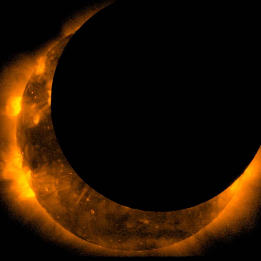 Hinode Witnesses Solar Eclipse