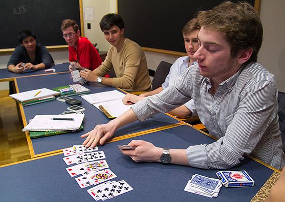 Risultati immagini per students play card in classroom
