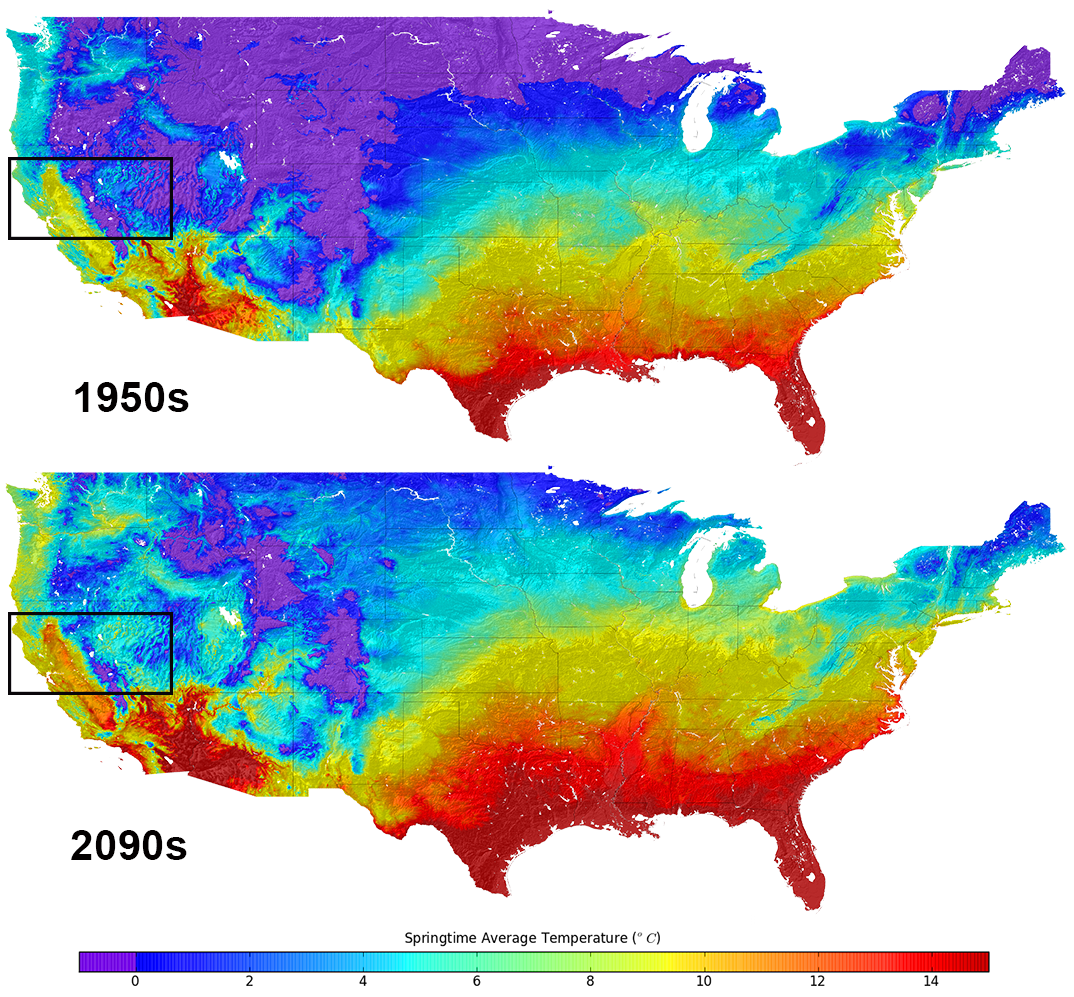 Us Climate Change Map New US climate map shows temperature changes in HD