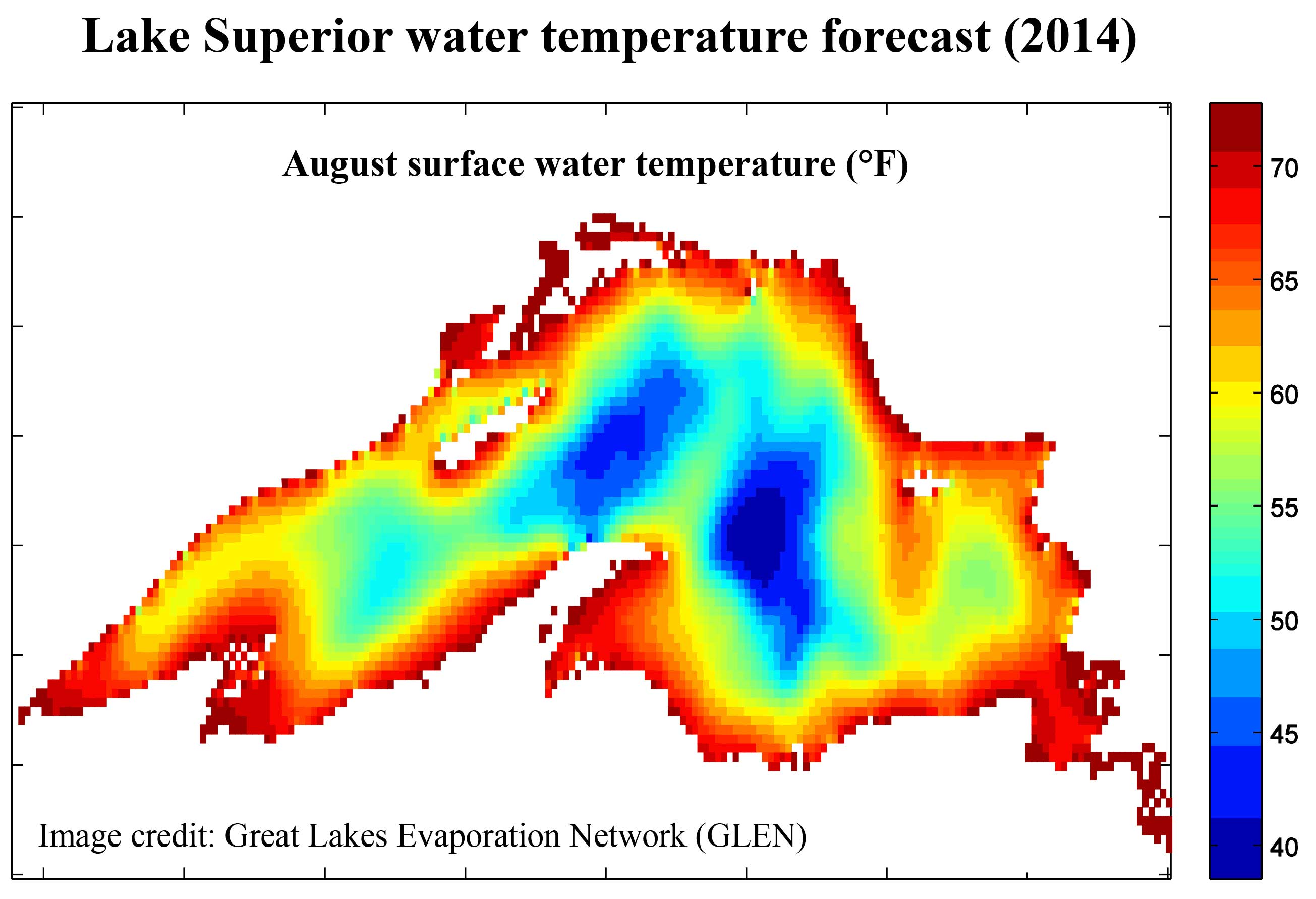 lake ontario water temperature map Lake Superior May See Coldest Surface Water Since 1979 lake ontario water temperature map