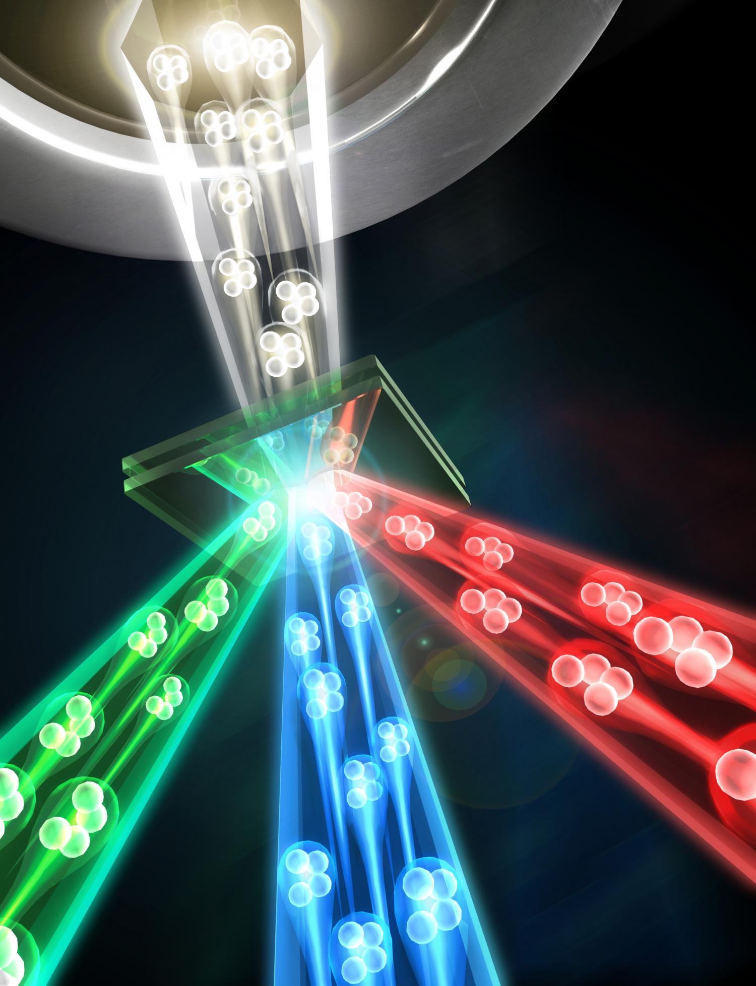 استفاده از فوتون ها به عنوان رشته ای برای بافت اشکال جدید ماده