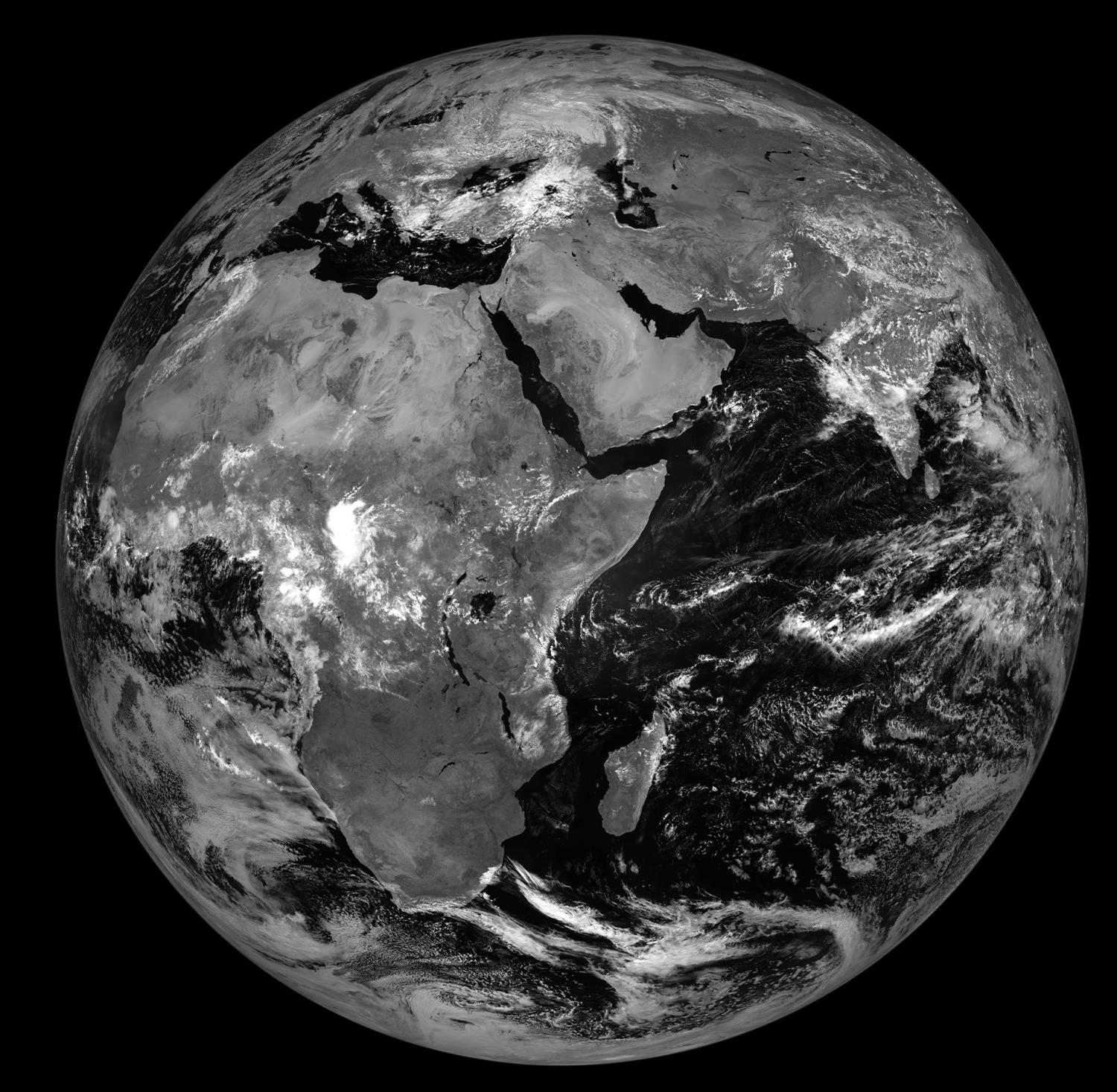 Meteosat 8 Satellite S New Position Of 41 5e Provides Weather And Climate View Over The Indian Ocean