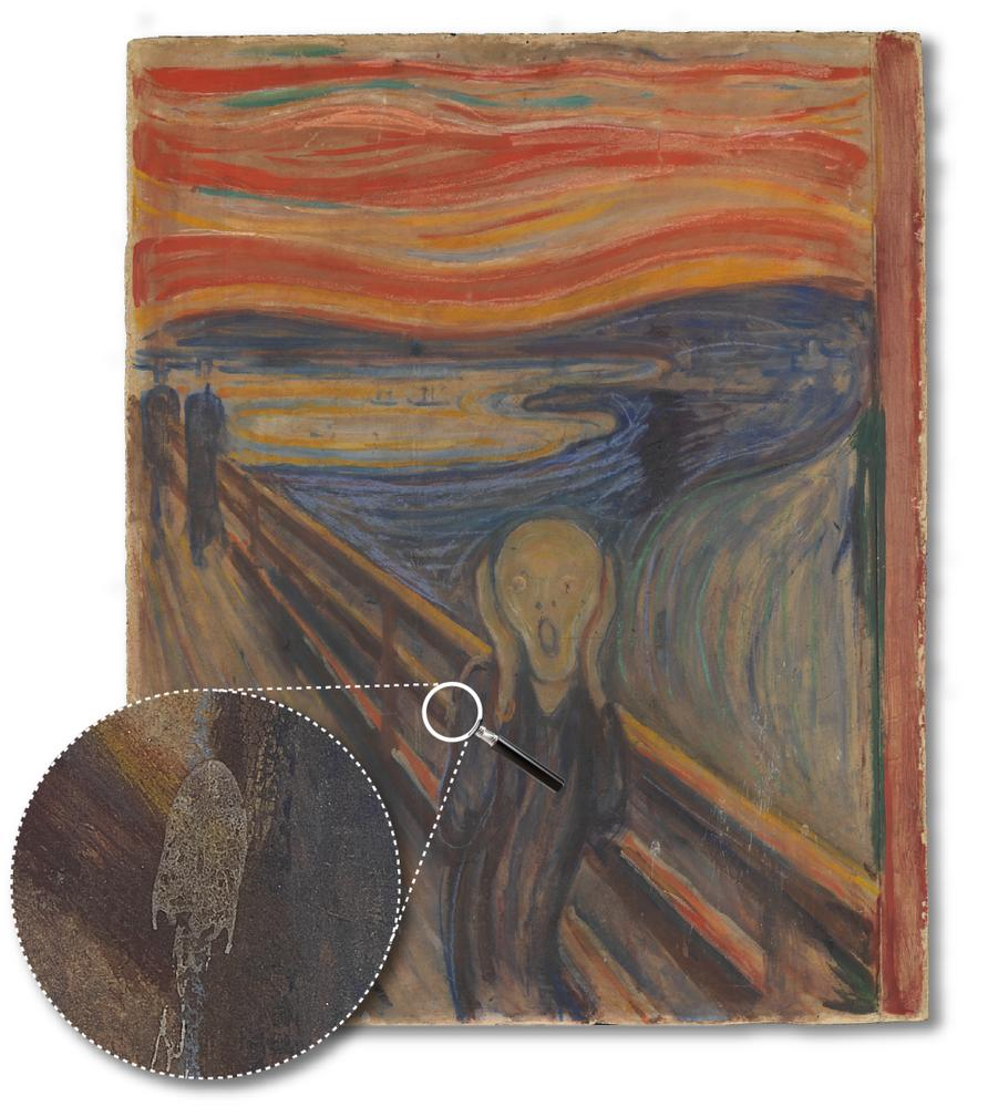 Why researchers look for white stains on Edvard Munch's