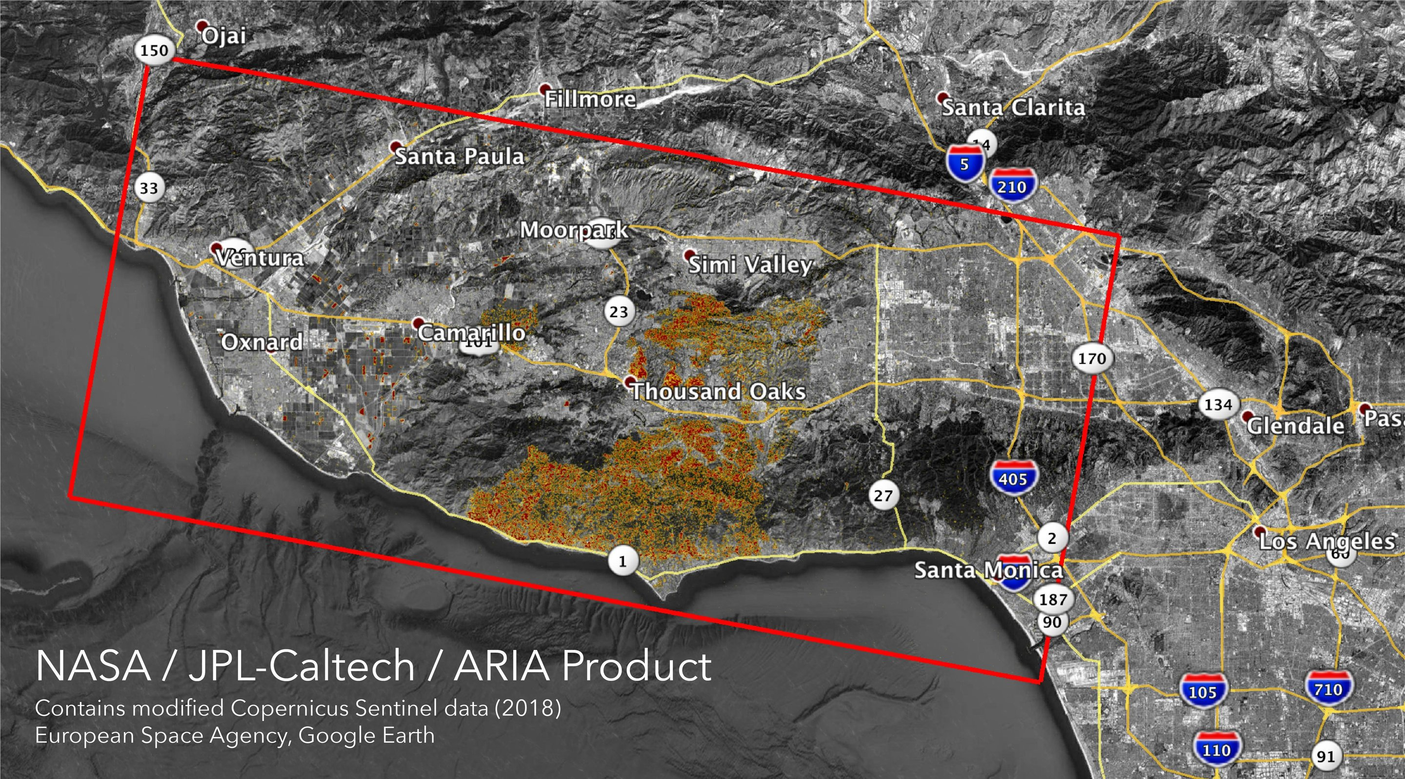 Nasa S Aria Maps California Wildfires From Space