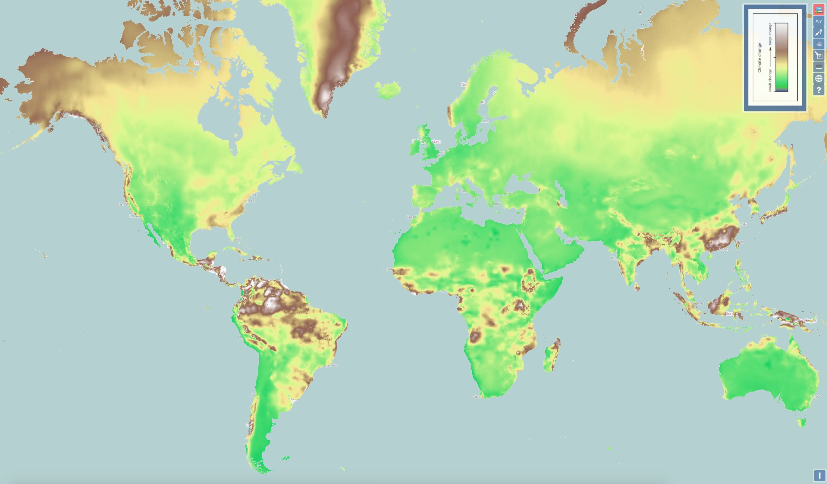 New interactive map shows climate change everywhere in world
