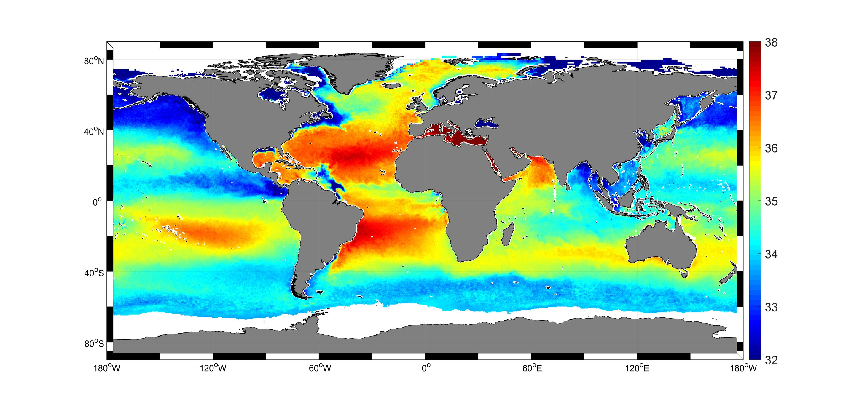 Largest sea-surface salinity dataset to date helps researchers map salty  waters